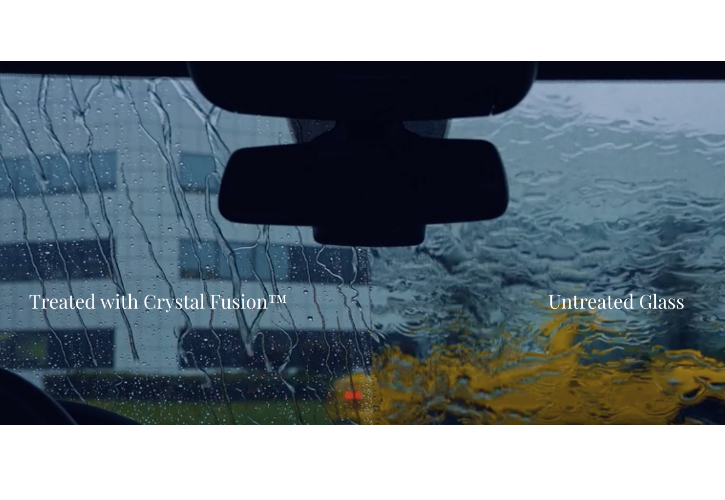 Compare CrystalFusion against a regular windshield